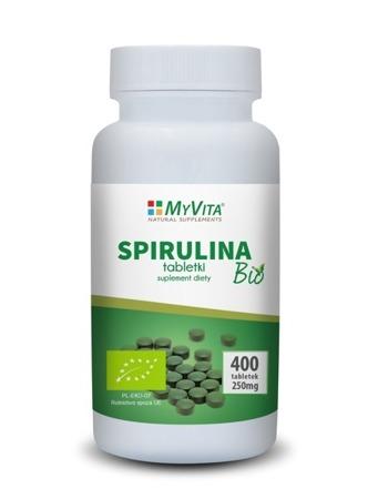 Myvita spirulina 250 mg 400 tabl suplementy dodatki for Spirulina w tabletkach