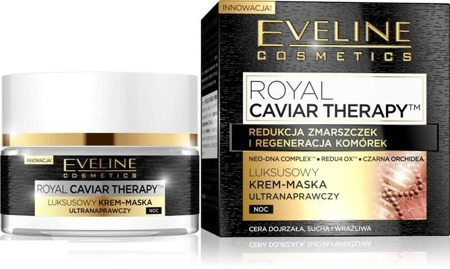 Eveline Royal Caviar Therapy Krem Maska Ultranaprawczy Noc 50ml
