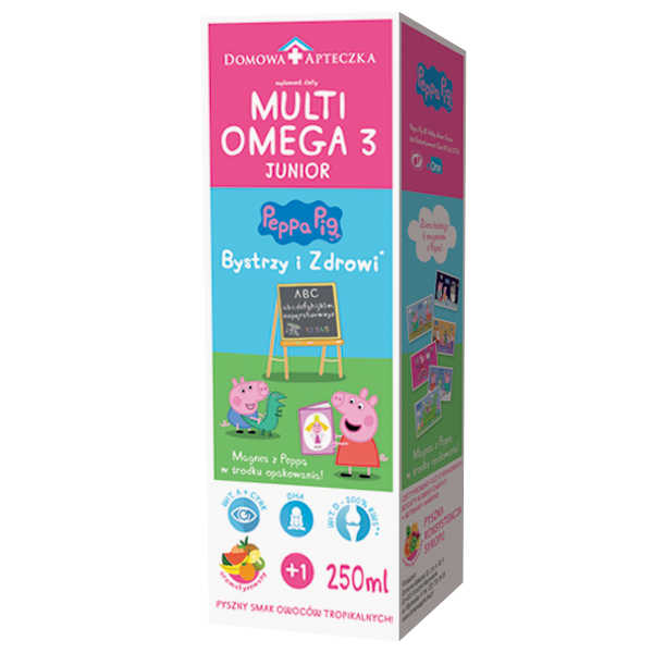MultiOmega 3 Junior Peppa Pig Cod-liver Oil Tropical Fruits Flavour 250ml