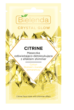 Bielenda Crystal Glow Face Mask CITRINE Refreshing and Detoxifying With Shimmer Effect 8g