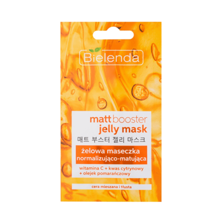 Bielenda Jelly Mask MATT BOOSTER Normalizing and matting gel mask for combination, oily skin 8g