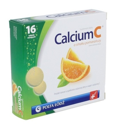 CALCIUM C 16tabl orange supplement your daily diet with calcium and vitamin C