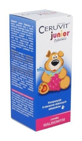 CERUVIT JUNIOR RASPBERRY SYRUP 120 ML strengthens the body's immunity