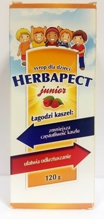 Herbapect Junior Syrup Raspberry Flavour 120g