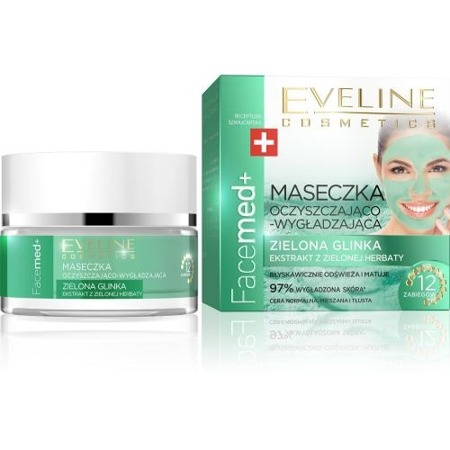 Eveline FaceMed+ Smoothing and Cleansing Face Mask with Green Clay 50ml