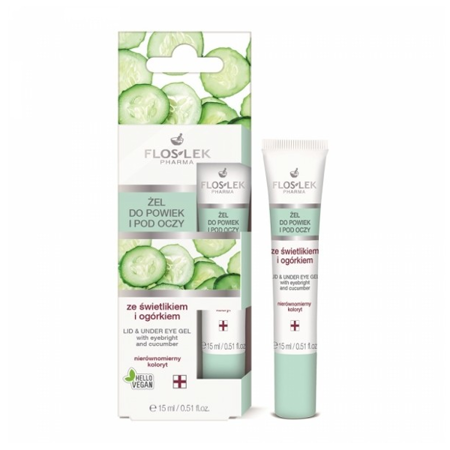 FLOSLEK GEL WITH SKYLIGHT AND CUCUMBER FOR EYELID AND EYES 15ML