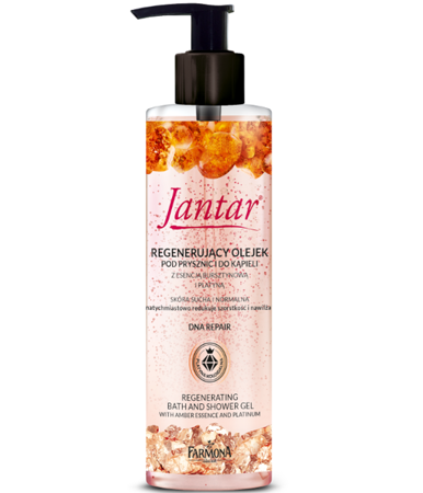 Farmona Jantar Regenerating Shower and Bath Oil Amber and Platinum Essence 400ml