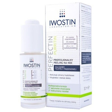 Iwostin Perfectin Purritin Professional Night Peeling Acne Skin 30 ml