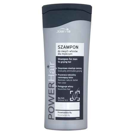 Joanna Power Hair Shampoo For Gray Hair For Men 200 ml