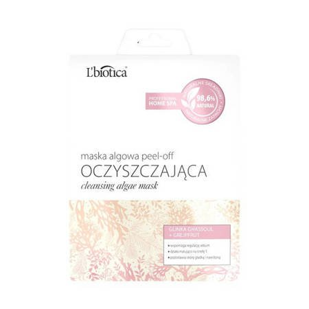 L'biotica Algae Cleansing Peel-off  Mask Ghassoul Clay and Grapefruit 12g