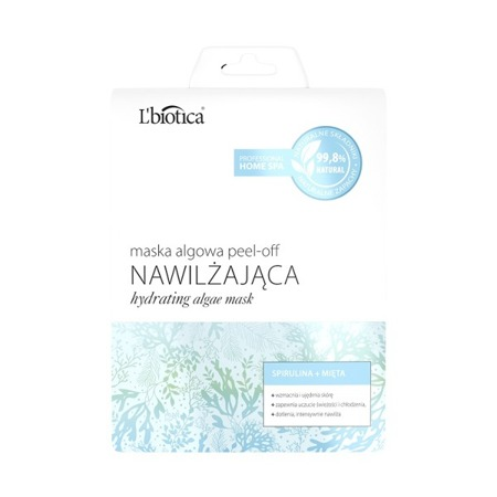 L'biotica Algae Moisturizing Peel-off Mask Spirulina Mint 12g