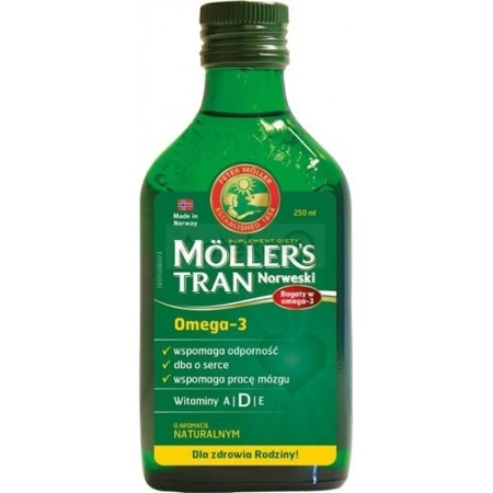 Mollers Cod-liver Oil Norwegian Aroma Natural 250ml