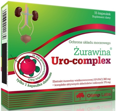 Olimp Cranberry Uro-Complex Dietary Supplement 15caps.