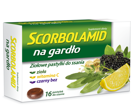 Scorbolamid Throat Herbal Lozenges 16 pcs.