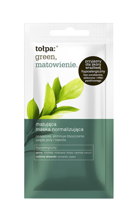 Tołpa Green Normalizing Mask For Sensitive, Mixed, Oily Skin 8ml
