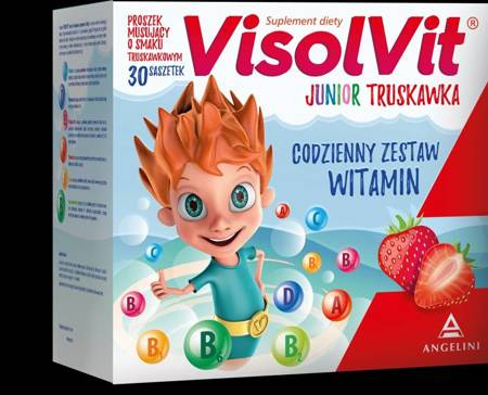VISOLVIT JUNIOR Strawberry 30 Sashets.